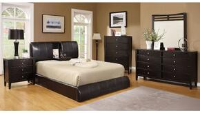Webster Collection CM7027QBDMCN 5-Piece Bedroom Set with Queen Bed, Dresser, Mirror, Chest, and Nightstand in Espresso Color