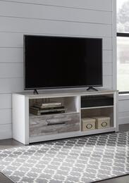 Evanni Collection W315-68A31 2-Piece Set with TV Stand and W100-31 Small Integrated Audio Unit in White and Grey