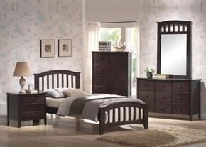 04985FDMCN San Marino Full Size Bed + Dresser + Mirror + Chest + Nightstand in Dark Walnut