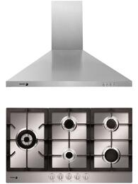 """2 Piece Stainless Steel Kitchen Package with FA-850STX 30"""" Gas Cooktop and 60CFP-30X 30"""" Range Hood"""