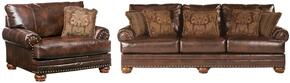 Chaling Collection 99200SC 2-Piece Living Room Set with Sofa and Chair and a Half in Antique