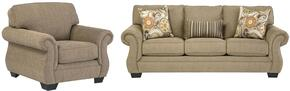 Karlie Collection MI-8155SC-BARL 2-Piece Living Room Set with Sofa and Living Room Chair in Barley
