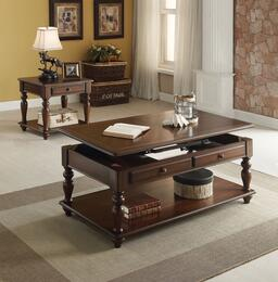 Farrel 82745CE 2 PC Living Room Table Set with Coffee Table + End Table in Walnut Finish