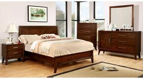 Snyder Collection CM7792CKBDMCN 5-Piece Bedroom Set with California King Bed, Dresser, Mirror, Chest and Nightstand in Brown Cherry Finish