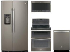 4-Piece Slate Kitchen Package with PZS22MMKES 36