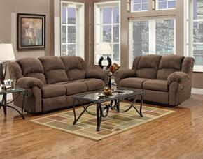 1000-AC-SLR Verona IV 3 Piece Ambrose Living Room Set, Sofa + Loveseat + Rocker Recliner, in Aruba Chocolate