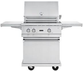 VGBQ53024L Professional 5 Series Outdoor Ultra-Premium Gas Grill with 25,000 BTU Stainless Steel Burners, 15,000 BTU Infrared Rear Burner, Easy Lift Canopy, Ceramic Briquette Flavor System, Smoke Box, and Matching Cart