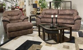 Atlee Collection 44312PCQARMKIT1C 2-Piece Living Room Sets with Sofa Beds, and Living Room Chair in Chestnut