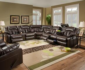 Sebring 50325-6863507519 4 Piece Set including  Double Motion Sofa, Loveseat, We dge and Recliner with Hidden Storage Compartment and Bonded Leather in Coffeebean