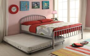Cailyn Collection 30460TSIT 2 PC Bedroom Set with Twin Size Bunk Bed + Trundle in Silver Finish