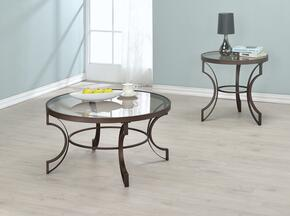 Fairhaven 704458CE 2 PC Living Room Table Set with Coffee Table + End Table in in Bronze Finish