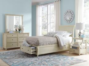 Avignon Youth Collection 1617TPBDMN 4-Piece Bedroom Set with Twin Storage Bed, Dresser, Mirror and Nightstand in Ivory