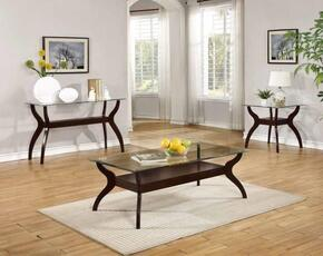 Ocassionals Table 704628CSE 3 PC Living Room Table Sets with Coffee Table + Sofa Table + End Table in Cappuccino Finish