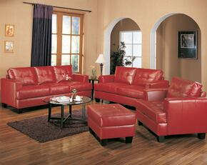 501831SET2 Samuel 2 Pc Living Room Set (Sofa and Loveseat) in Red