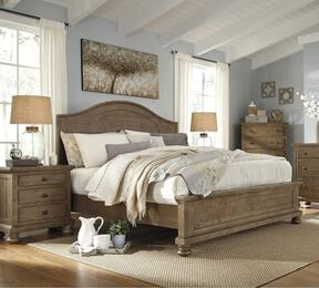 Goodwin Collection California King Bedroom Set with Panel Bed, and Nightstand in Light Brown