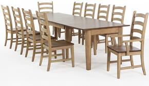 Brook Collection DLU-BR134-PW11PC 11 PC Dining Room Set with Dining Table + 10 Side Chairs