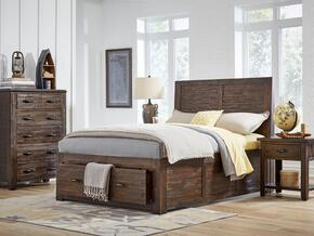 Jackson Lodge Youth Collection 1605FPBCN 3-Piece Bedroom Set with Full Storage Bed, Chest and Nightstand in Brown