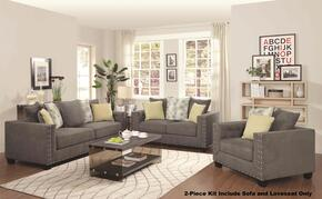 50142S1LS  2 Piece Kit Kelvington with One Tuxedo Sofa and One Loveseat in Charcoal