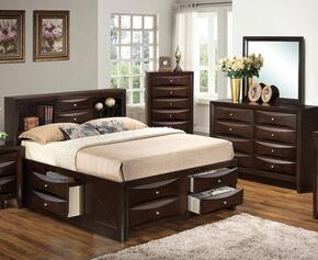 G1525GTSB3DM 3 Piece Set including  Twin Size Bed, Dresser and Mirror  in Cappuccino