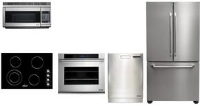 "Dacor Distinctive Series 5 Piece Kitchen Package With DECT304B 30"" Electric Cooktop, DTO130S  30"" Electric Wall Oven, DTF36FCS 36"" French Door Refrigerator, PCOR30S 30"" Microwave and DDW24S 24"" Built In Dishwasher in Stainless Ste"