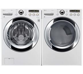 White Steel Front Load Laundry Pair with WM3250HWA 27