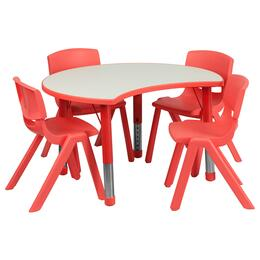 Flash Furniture YUYCY0930034CIRTBLREDGG