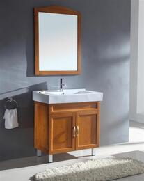 WA3131KIT31.5 Sink Chest - Solid Wood - No Faucet in Medium Maple with Mirror