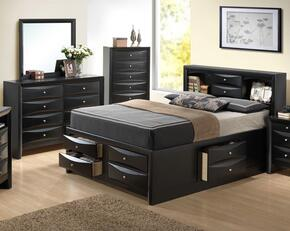 G1500GTSB3DM 3 Piece Set including Twin Size Bed, Dresser and Mirror in Black