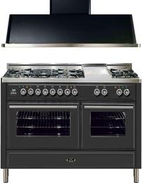 2-Piece Matte Graphite Kitchen Package with UMT150SDMPM 60