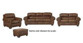 Burnsville Collection 97206SLCO 4-Piece Living Room Set with Sofa, Loveseat, Living Room Chair and Ottoman in Espresso