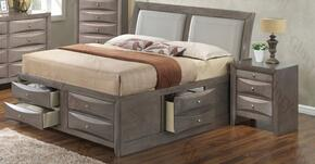 G1505IFSB4N 2 Piece Set including  Full Size Bed and Nightstand  in Gray