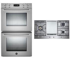 "Professional Series 2-Piece Stainless Steel Kitchen Package with FD30PROXT 30"" Double Electric Wall Oven and PM3630GX  36"" Gas Cooktop"