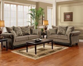 6000-SL Verona 2 Piece Lily Living Room Set, Sofa + Loveseat, in Dream Java