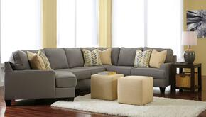 Peyton Collection MI-58594LCDSS2CO2ETR2L-ALLO 8-Piece Living Room Set with 4PC Left Cuddler Sectional, 2 Cube Ottomans, 2 End Tables, Rug and 2 Lamps in Alloy
