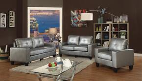 Newbury Collection G466ASET 3 PC Living Room Set with Sofa + Loveseat + Chair in Antique Silver Color