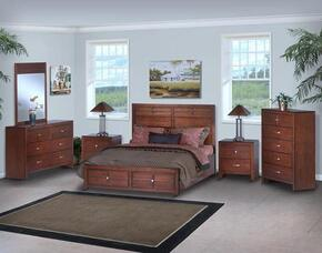05060FBDMNC Kensington 5 Piece Set with Full Storage Bed, Dresser, Mirror, Nightstand and Chest, in Burnished Cherry