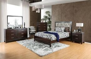 Winnifred Collection CM7412QBDMCN 5-Piece Bedroom Set with Queen Bed, Dresser, Mirror, Chest and Nightstand in Cherry Finish