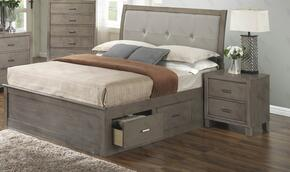 G1205BKSBCHN 3 Piece Set including King Storage Bed, Chest and Nighstand  in Gray