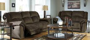 95701882PC Quinnlyn 2 PC Living Room Set with Reclining Sofa + Reclining Loveseat in Coffee Color