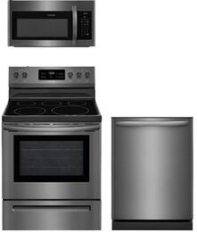 3-Piece Black Stainless Steel Kitchen Package With FFEF3054TD 30