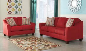 Hannin 95801SL 2-Piece Living Room Set with Sofa and Loveseat in Spice