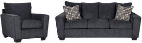 Wixon 57002SC 2-Piece Living Room Set with Sofa and Chair in Slate Color