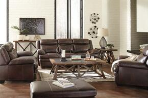 Hannalore Collection 1530438SLCO 4 PC Living Room Set with Sofa + Loveseat + Armchair + Ottoman in Cafe Color