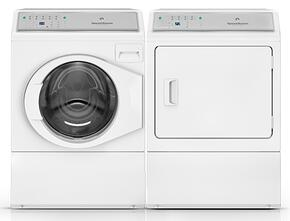 White Front Load Laundry Pair with AFNE9BSW 27