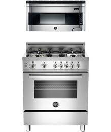 "2-Piece Stainless Steel Kitchen Package with PRO304GASX Professional 30"" Freestanding Gas Range and KO30PROX 30"" Over-the-Range Microwave"