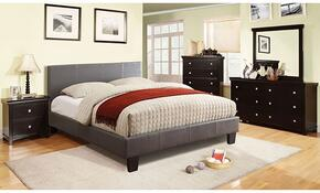Winn Park Collection CM7008GYQBDMCN 5-Piece Bedroom Set with Queen Bed, Dresser, Mirror, Chest, and Nightstand in Grey Color