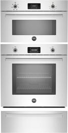 "3-Piece Stainless Steel Kitchen Package with PROFS30XT 30"" Electric Single Wall Oven, PROSO30X 30"" Convection Speed Oven and PROWD30X 30"" Convection Warming Drawer"
