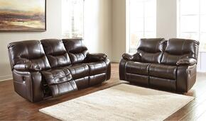 Pranas 47900NSL 2-Piece Living Room Set with Reclining Sofa and Reclining Loveseat in Brindle