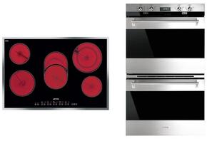 "2-Piece Kitchen Package With S2773CXU 36"" Electric Cooktop and DOU330X1 30"" Electric Double Wall Oven"