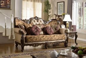 Catania 610-S-CH 2 Piece Living Room Set with Sofa and Chaise in Dark Cherry Finish